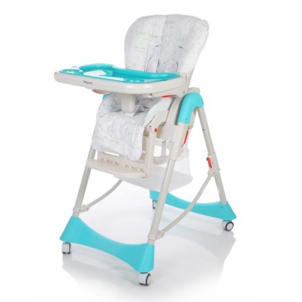 Baby Care, Love Bear - стульчик для кормления со съемной столешницей. Сидение устанавливается в 6-ти положениях по высоте. Наклон спинки и подножки регулируется практически до горизонтального положения. Стульчик легко складывается и устойчив в сложенном виде.